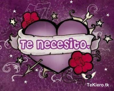 necesito... te necesito