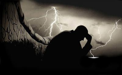 Dolor en un dia de lluvia